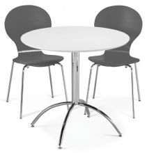 Kimberley Dining Set White Table & 2 Slate Grey Chairs 1/2 Price Deal